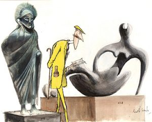 Mr. Lemon Hart, Old and New Theme - Ronald Searle