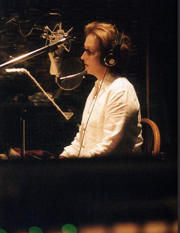 Meryl Streep Recording Narration