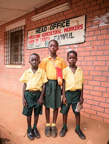 Students in Firestone School Uniforms