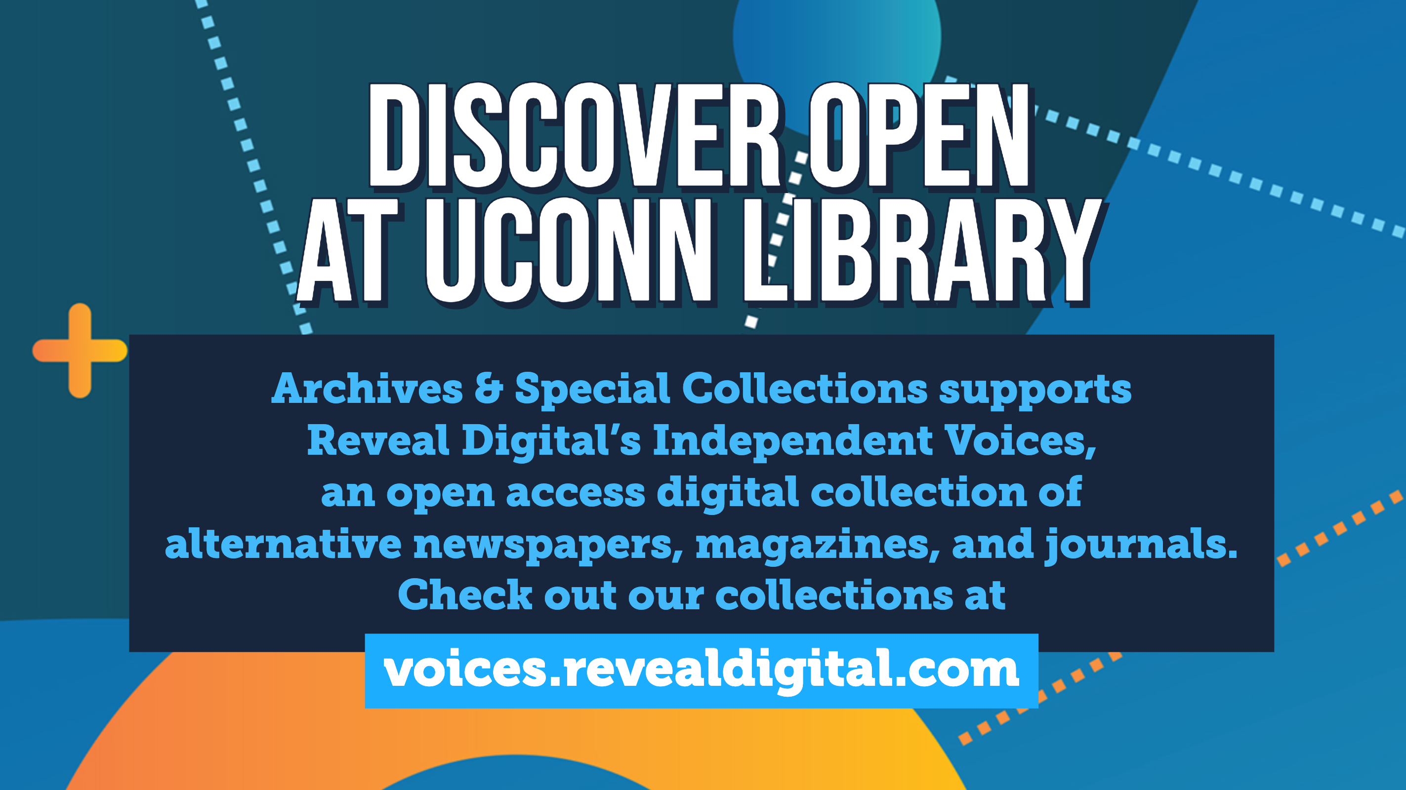 Discover Open at UConn Library Archives & Special Collections has over 1200 open primary source collections for research, teaching, and creative use. Explore them at archivessearch.lib.uconn.edu & ctdigitalarchive.org