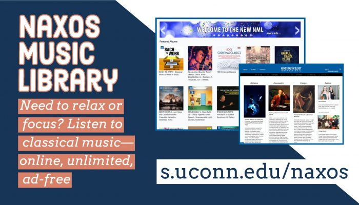 Need to relax or focus? Listen to classical music—online, unlimited, ad-free s.uconn.edu/naxos