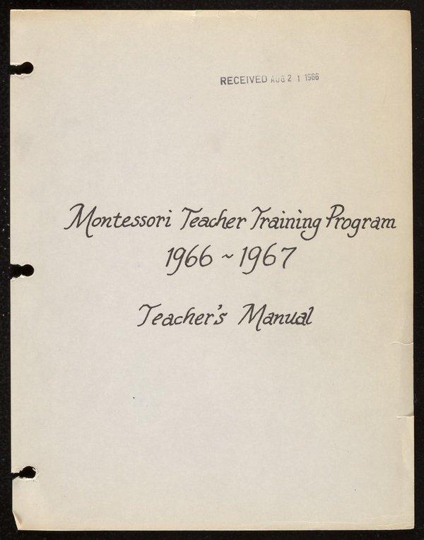 1966-1967 Teacher's Training Manual