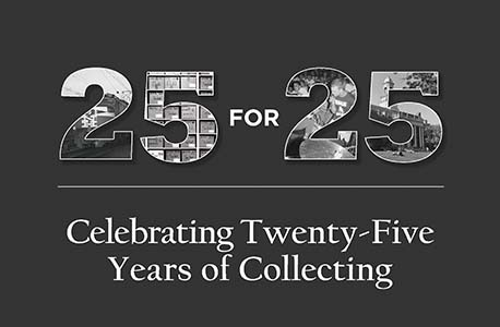 Image description: logo for exhibit titled 25 for 25, Celebrating Twenty-Five Years of Collecting