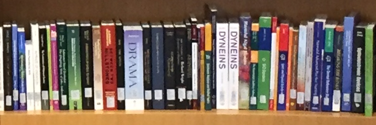 Photo of books on shelves
