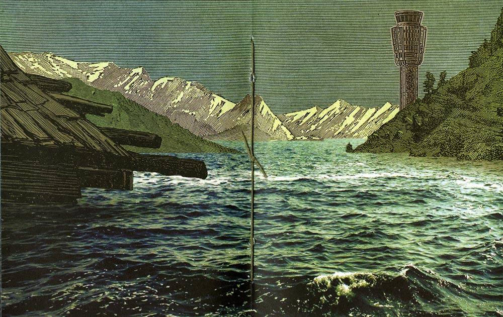 Landscapes of the Late Anthropocene, Illustration from Archives & Special Collections Fine Press and Artists' Books collection