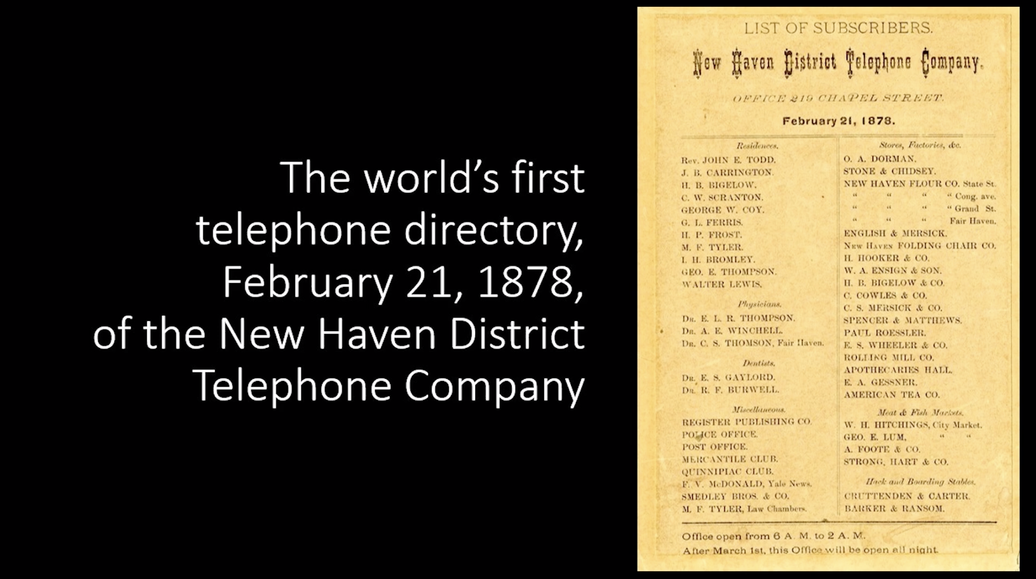 Video Thumbnail for The World's First Telephone Directory