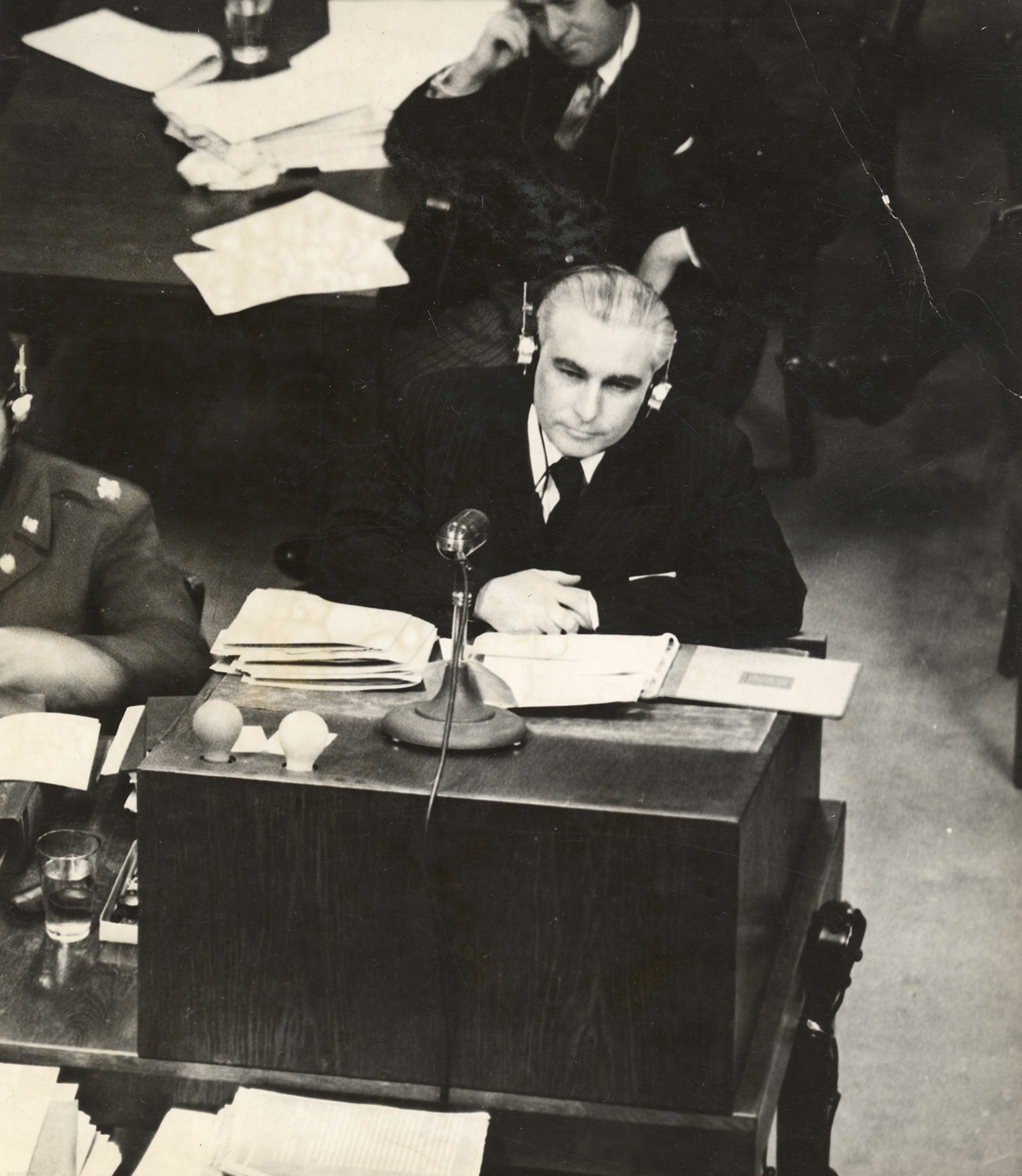 Thomas J. Dodd at the International Military Tribunal at Nuremberg after World War II