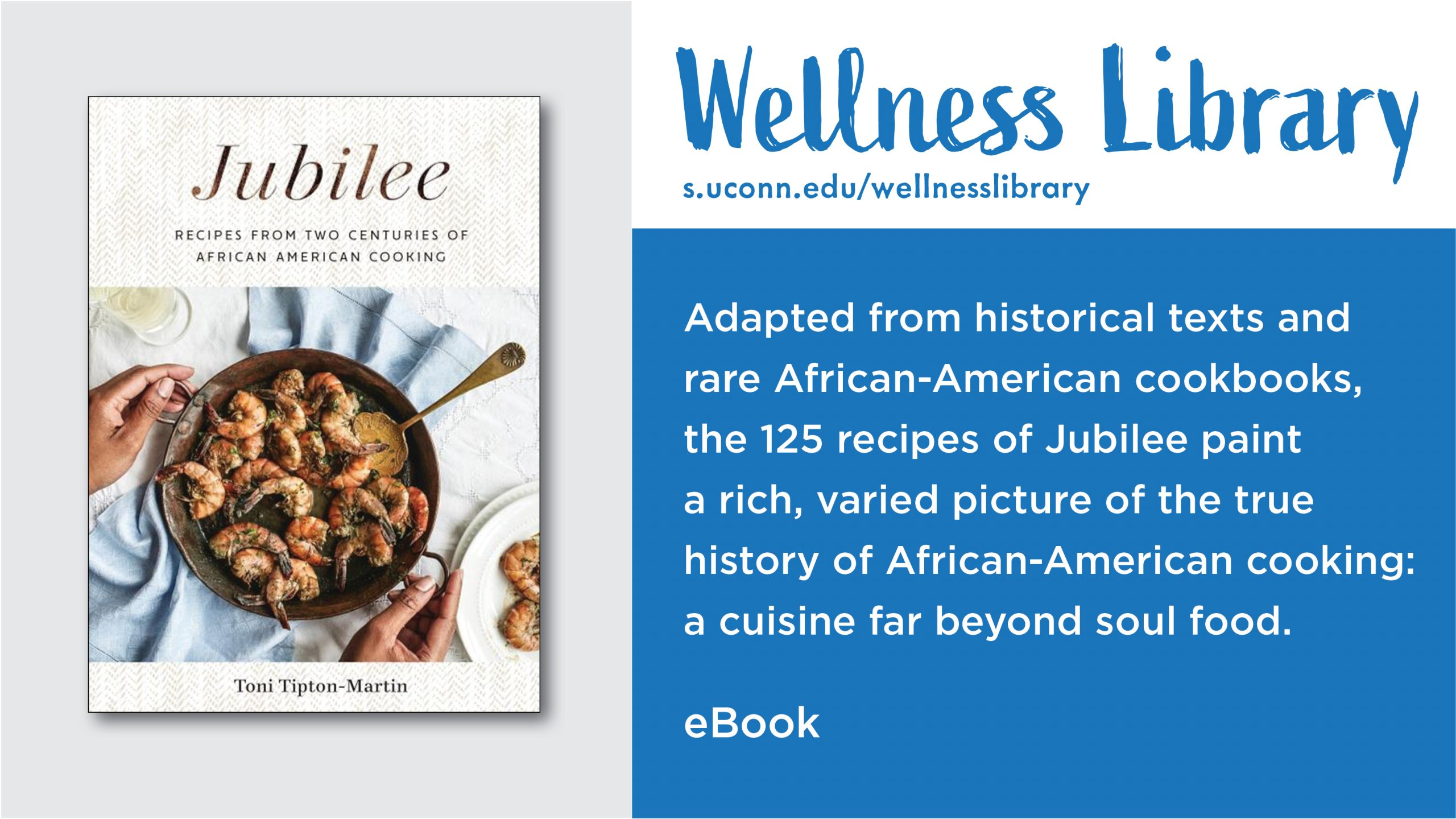 Wellness Library: Adapted from historical texts and rare African-American cookbooks, the 125 recipes of Jubilee paint a rich, varied picture of the true history of African-American cooking: a cuisine far beyond soul food.