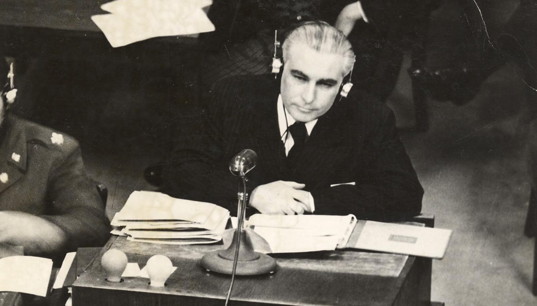 Thomas J. Dodd at the International Military Tribunal at Nuremberg after World War II