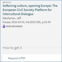 Screenshot of Request a PDF button