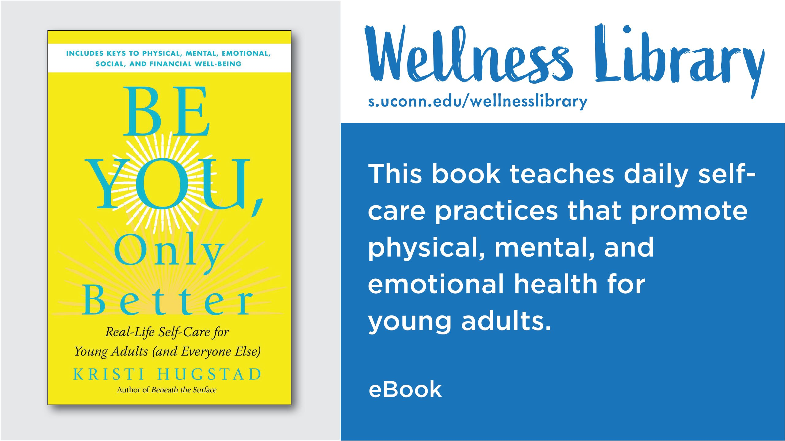 Wellness Library - This book teaches daily self-care practices that promote physical, mental, and emotional health for young adults. eBook