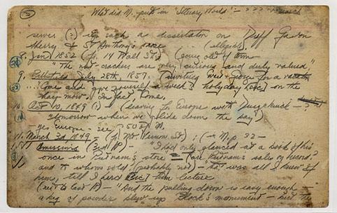 Melville Duyckinck Card 06