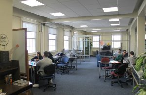 Study space at the Avery Point Library, UConn