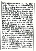 Dr. Jeremy Richard Obituary New York Times