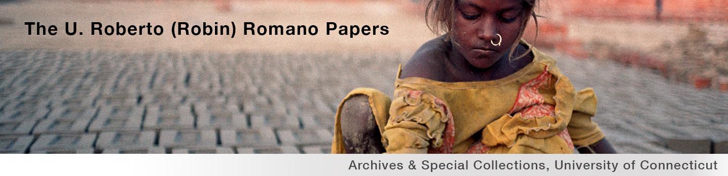 The U. Roberto (Robin) Romano Papers