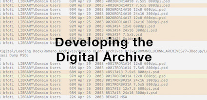 Developing the Digital Archive